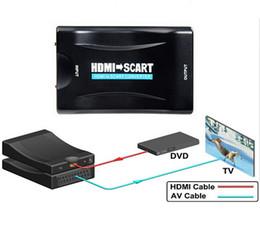 digital-wandler-box hdmi Rabatt 1080P HDMI zu Scart Konverter AV Signal Adapter Receiver Scart zu HDMI 1080P für HD Receiver TV Monitor PC Smartphone