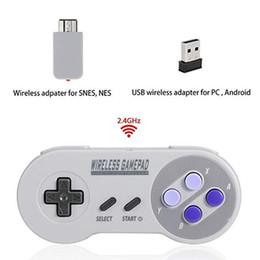 Controller da gioco wireless per SNES CLASSIC MINI Edition Joystick Gamepad 2.4GHz USB Gamepad per PC con scatola da controller di gioco usb fornitori