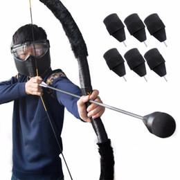 penas de peru flechas Desconto 2018 sorte Soft Black esponja de espuma Seta CS Tiro mundo caçador Jogo monstro Hunting Arrowhead caça chifre construção seta