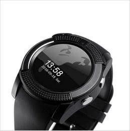 Круговые часы онлайн-Новый! V8 Smart Watch IPS HD Экран Круглые интеллектуальные многофункциональные часы iwatch с цифровой камерой SIM-карта 6 цветов оптовые