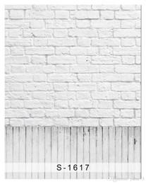 Wholesale Brick Computer - 5x7ft Vinyl White Gray Brick Wall Wood Floor Photography Studio Backdrop Background