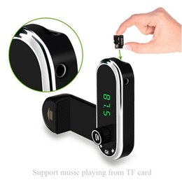 hands free car phone holder Promo Codes - Hands Free Wireless Bluetooth FM Transmitter TF AUX Modulator Car Kit MP3 Player Air vent Holder Stand Car Phone Holder