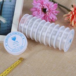 Elástico transparente on-line-Limpar Cristal Beading Stretch Cord Elástico linha Resistente DIY Beading Fio Fazer Jóias Corda DIY Artesanal Ferramenta de Artesanato 0.4-1mm