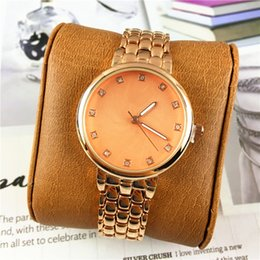Wholesale Ladies Watches Big Dials - Fashion AAA Women watch Wristwatch Clock Shell Face Big Dial Rose Gold Stainless steel Lady Watches Romatic Women Quartz High Quality