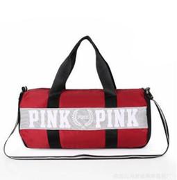 Bolsos de las mujeres carta rosa gran capacidad de viaje duffle rayas impermeable bolsa de playa bolsa de hombro gratis