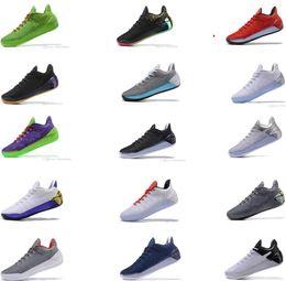 Wholesale Cheap Elites - 2018 Kobe 12 Black Gold Men Basketball Shoes Cheap Purple Red White Gray Blue Kobe 12s Elite 8 Sport Sneakers