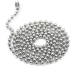 "Wholesale Round Ball Beads - 2.4mm 50cn 55cm 60cm 70cm Stainless Steel Bead Ball Chains Necklaces Basic Round Bead Chains 4 size Choice 20""22""24""28"""