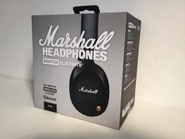 Мониторы для наушников онлайн-Marshall Monitor Bluetooth Наушники Deep Bass DJ Hifi Гарнитура Профессиональная Студия С Шумоподавлением Спортивные Наушники Наушники с Розничной Бо