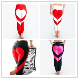 Wholesale fast workouts - Yoga Pants Sports Leggings 2018 Sexy Peach Hips Heart Shape Gym Clothes Spandex Running Workout Women Patchwork Fitness Tights fast shipping