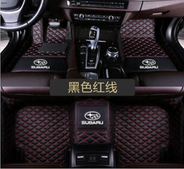 Custom Fit Luxury XPE Leather 3D Full car Floor Mats Waterproof for Subaru 2005-2019 BRZ Forester WRX Legacy Outback XV Wine red