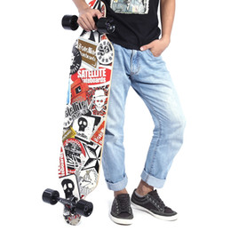 mini tabla larga Rebajas Silent Long Skateboard Roller Scooter Entertainment Sport Kit Skateboard Niños Longboard Skateboard Mini Single Rocker Roller