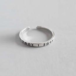 Wholesale Opal Earings - Korean Thai Silver Vintage Greek Classical Alphabet Word Ring Ring Open 925 Sterling Silver Ring brooch cufflinks wedding rings earings pear