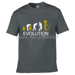 Wholesale Brown Vs Black - New Funny T Shirt Alien Evolution Costume Alien Vs Predator Men's Summer O-Neck Cotton Design Shirt Funny Tops Tees