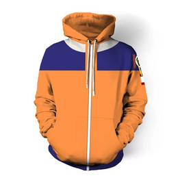 naruto uzumaki jacket Promo Codes - New Hoodies Men Women Naruto Uzumaki Uchiha Sasuke Cosplay 3D Print Hoodie Jacket Casual Sweatshirts Coat