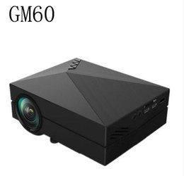 Wholesale Building Home Design - Portable Design GM60 LCD Projector 1000LM 800x480 Pixels 1080P USB HDMI VGA AV Connectivity Built-in HiFi Speaker Projector