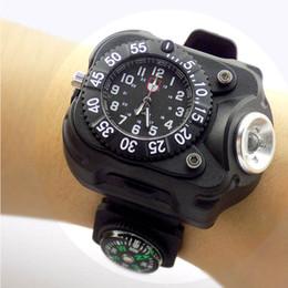 relógio de tocha Desconto 3 em 1 brilhante luz do relógio lanterna com bússola esportes ao ar livre dos homens moda Impermeável LED luz do relógio de pulso recarregável tocha