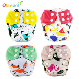 Wholesale Wholesale Newborn Cloth Diapers - Elinfant newborn baby bamboo charcoal aio cloth diaper nappy with belly button fit 0-3month , <5kg #ES051#