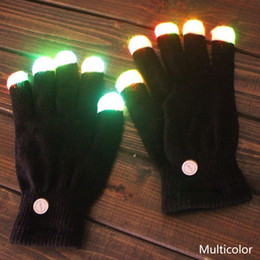 party glow supplies Coupons - Creative Colorful LED Finger Lighting Flashing Glow Mittens Gloves Rave Light Festive Event Party Supplies Luminous Cool Gloves