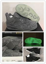 Wholesale X Men Latex - New Retro 4 KAWS x Men Kaws XX Cool Grey Glow Basketball Shoes 4s KAWS Black Sneakers High Quality Shoes size US8-13