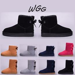 2019 taille du café UGG boots WGG femmes chaussures Australie designer café noir rouge demi bottes luxe châtaigne bleu gris bottes automne hiver femmes chaussures taille nous 5-10 taille du café pas cher