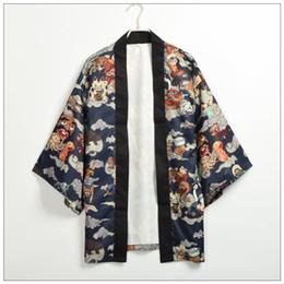 Argentina Kimono japonés Chaqueta Yukata Hombres Cardgain Mujeres Outwear Corto Trench Hyakki Yakou Clarkes World Costumes Suministro