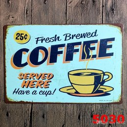 pinturas de montaña Rebajas Novela 20 * 30 cm Cartel de chapa Retro Fresco Cerveza Café Estañado Poster Jamaica Blue Mountain Sirvió Aquí Pinturas de Hierro Tide 3 99lje cc