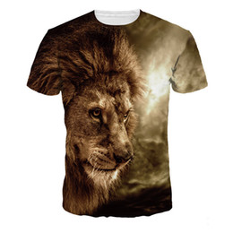 Argentina Jungle Lion 3D Camiseta Hombres Novedad Fitness Tops Casual Plus Size camisetas Funny Hot Sale Streetwear Boys Harajuku T Shirts cheap plus size tops sale Suministro