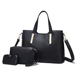 Wholesale coin offers - 2018 Special Offer 100% Genuine Leather Shoulder Bag Set Women Handbag Female Purse Coin Wallet Large Capacity Strap Hand Bag