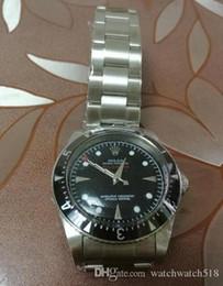 fornecedores de cristal Desconto Fornecedor de fábrica de venda quente de luxo relógios de prata preto relógio de cristal de safira CONDIÇÃO de moda automática dos homens relógio de pulso