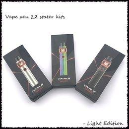 Argentina Vape Pen 22 Kit Light Edition 1650mAh Batería con tanque base de 4ml LED para bobinas de tira de malla Suministro