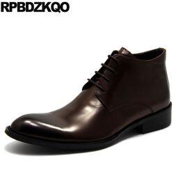 2e040e80d96c37 2019 herren-kleid braun leder stiefel Kleid Business Schuhe Pelz Formale  Chukka Brown Knöchel Echtem