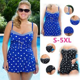 63e93629ff8 Plus Size Bikini Set High Waist Push Up Swimsuit Swimwear Polka-dot  Swimdress Bikini Bathing Suits