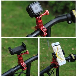 Wholesale mounting adapter - 360 Degree Rotation Bicycle Adapter Mount Aluminum Alloy Handlebar With Screw For GoPro HERO 6 5 Session 5 4 Session 4 3+
