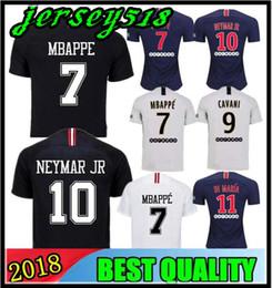 41f19e74829fa1 Calidad tailandesa NEYMAR JR PSG 2018 MBAPPE Camisetas de fútbol de París  18 19 CAVANI DANI ALVES camiseta camiseta de fútbol saint germain hombres  mujeres ...