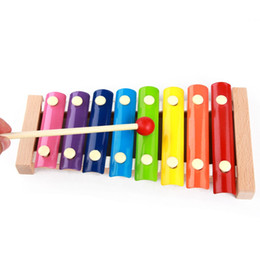 Wholesale First Baby Toy - MoTrent Wooden 8 Notes Xylophone First Musical Instrument for Children, Portable Music Toys for Kids Baby Hand Knock Xylophone Kids