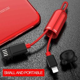 Ornements de ligne en Ligne-Portable 2.1A câble de charge rapide de câble pour iPhone USB tressé / type-C câbles de chargement avec tube de stockage