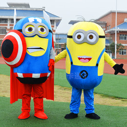 Wholesale Minions Costumes - Lovely minions mascot doll dress adult walking dirty cartoon performance props customization, Buy now, while they last..