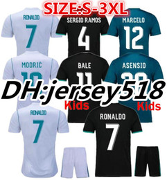 Wholesale Real Madrid Kids Soccer Jersey - 17 18 Real Madrid soccer jersey 2018 jerseys RONALDO Asensio SERGIO MODRIC RAMOS MARCELO BALE ISCO football shirts Adults and kids S-3XL