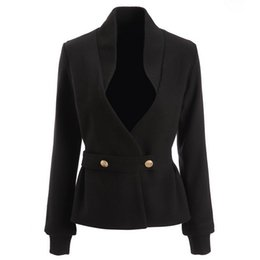 Wholesale Ladies Jacket Wool - new with label and tag Brand BTop Quality Original Design Women's Ladies Females V neck knitted wool jacket Blazer outwear Metal Buckle