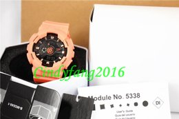 Wholesale Baby Shocks - TOP quality #3 orange AAA baby cow colors dual display g sports watch GMT shocking watches men Casual Watches wholesale