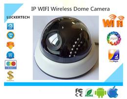 Wholesale dome camera audio - Luckertech IP WIFI Wireless Dome Camera Indoor 1080P 1920*1080 Support 32G Mini SD Card P2P XMeye Audio CCTV Survillance