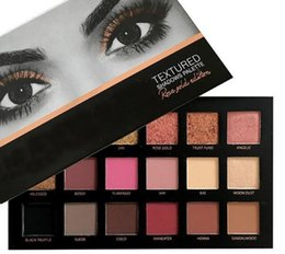 Wholesale Eyeshadow 18 Colors - Newest Huda 18 Colors Eyeshadow Palette Rose Gold Textured Palette Hiqh Quality Makeup Beauty Eye shadow Palette Matte Shimmer retail box
