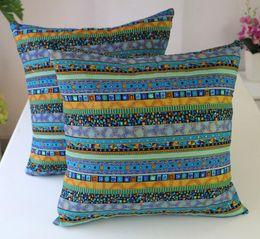 Wholesale Knitted Seat Cushion - Fyjafon 2pcs Decorative Pillow Case Pillowcase cushion case Woven Cotton Linen Chair Seat Throw Pillow Cover 60x60