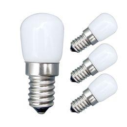 Wholesale Fridge Bulbs - 4pcs 1.5W E14 Refrigerator LED lighting mini bulb AC220V Bright indoor lamp for Fridge Freezer Crystal chandeliers Lighting
