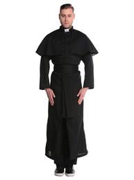 Trajes de deus on-line-Traje medieval Renascimento Monge Padre Roupas Homens Deus Pai Vestes Missionárias Roupas de Halloween Do Partido Do Traje Da Freira Conjuntos
