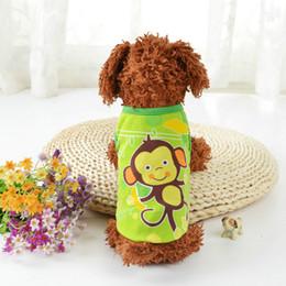 fantasias para cães Desconto Colete do cão Colorido Verão Cão Filhote de Cachorro Roupas Bonito Dos Desenhos Animados Multi-tamanho de Alta Qualidade Dos Desenhos Animados Unisex Dog Vest Vestuário