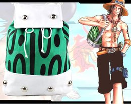 Wholesale Anime One Piece Ace - Anime ONE PIECE Portgas D Ace Backpack Shoulder Bag Canvas School Bags Gift 42 x 31cm