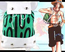 Wholesale One Piece Shoulder Bag - Anime ONE PIECE Portgas D Ace Backpack Shoulder Bag Canvas School Bags Gift 42 x 31cm