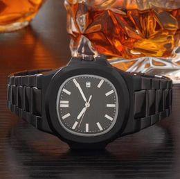 мужские часы черный квадратный циферблат Скидка роскошные мужские часы черное золото из нержавеющей стали кварцевые nautilus Спорт Бизнес мужские часы мода квадратный циферблат складной пряжки мужские наручные часы