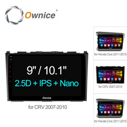 "Wholesale Dvd Radio Android - Ownice C500+ 9"" Octa 8 Core Car DVD GPS android 6.0 2GB+32GB for Honda CR-V 2007 - 2010 for Civic 2011 Video radio Support 4G"